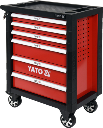 Dielenský vozík s náradím, 6 zásuviek, 177 kusov, 975 x 765 x 465 mm,